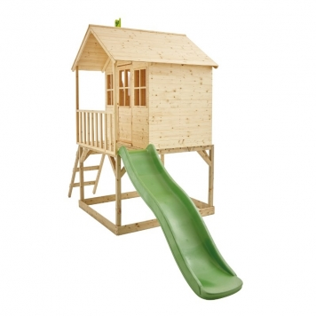TP Toys Hill Top Wooden Tower Playhouse and Slide