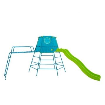 TP Toys Explorer Metal Climbing Frame Den Platform and Crazywavy Slide