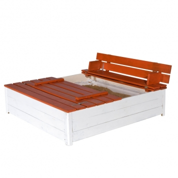 Trigano Jardin Sandy Wooden Sandpit and Bench Set