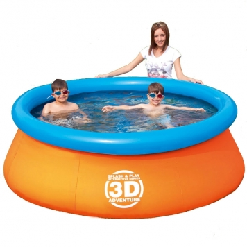 Bestway splash and play interactive series 3d adventure for Large paddling pool