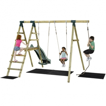 Plum Giant Baboon Wooden Swing Set