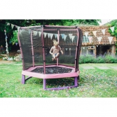 Plum 7ft Pink Junior Jumper Trampoline and Enclosure