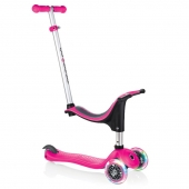 Globber Scooter 4 in 1 Lights Deep Pink