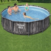 Bestway 12ft x 39.5in Steel Pro MAX Grey Frame Pool Set