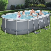 Bestway 13ft 11 x 8ft 2 x 40in Power Steel Frame Pool Set