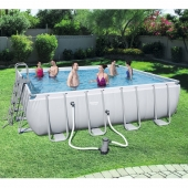 Bestway 16ft x 16ft x 48in Power Steel Frame Pool Set