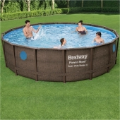 Bestway 16ft x 48in Power Steel Swim Vista Series Pool Set