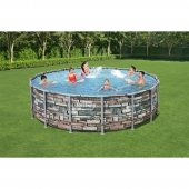 Bestway 16ft x 48in Power Steel Frame Pool Set inc Filter Pump