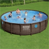 Bestway 18ft x 48in Power Steel Swim Vista Series Pool Set