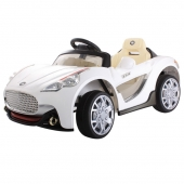 Maserati Style Ride On Car Twin 6V  White