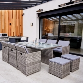 ABLO 10 Seater Rattan Cube Dining Set