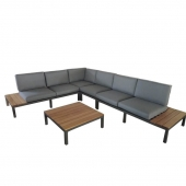 Aspen 6 Seater Aluminium Corner Lounging Set
