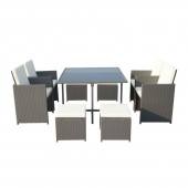 Cannes 8 Seater Cube Set Grey