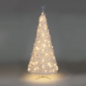 6ft White Holly LED Pre-Lit Pop-Up Christmas Tree