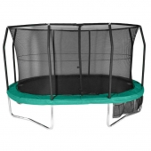 Evostar 14ft x 12ft  Oval Trampoline and Enclosure