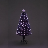 4ft Mensa Fibre Optic Christmas Tree with Multi-Coloured LED Lights
