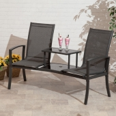 Havana Charcoal Duo Seat with Table