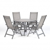 Adrano 4 Seater Dining Table Set