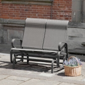 Havana Twin Seater Charcoal Glide Seat