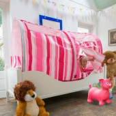 Bazoongi Pink Stripe Bed Tent