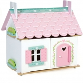 Le Toy Van Lilys Cottage Doll House with Furniture