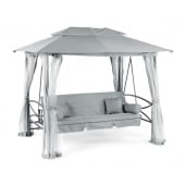 Luxor Grey Gazebo Swing