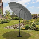 Shanghai 2.7m Grey Parasol With Crank and Tilt
