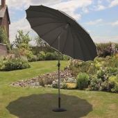 Shanghai 2.7m Black Parasol With Crank and Tilt