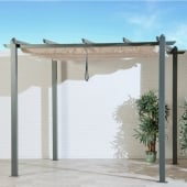 3m Aluminium Retractable Grey Gazebo