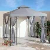 Polenza 2.5m Dark Grey Gazebo