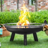 Porto 80cm Wood Burning Fire Bowl
