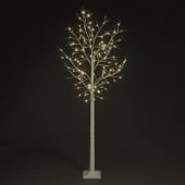 8ft Warm White LED Indoor and Outdoor Birch Tree