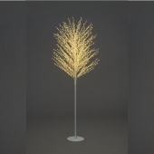 7ft Pre-Lit White Micro Dot Tree with Warm White LEDs
