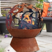 La Hacienda Swallows Fire Globe Fire Pit