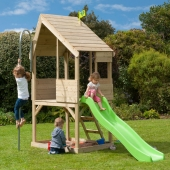 TP Toys Chalet Wooden Playhouse  Slide