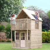 TP Toys Loft Wooden Playhouse