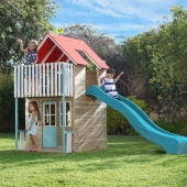 TP Toys Padstow Wooden Playhouse  Slide