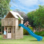 TP Loft Wooden Playhouse & Slide