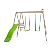 TP Toys Forest Multiplay Wooden Swing Set and Slide