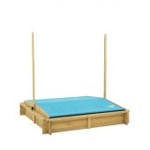 TP Toys Wooden Sandpit with Sun Canopy