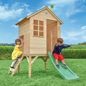 TP Toys Sunnyside Wooden Tower Playhouse and Slide