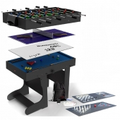 BCE 4ft 12-in-1 Folding Multi Games Table MG12-1F (Black)
