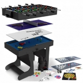 BCE 4ft 21-in-1 Folding Multi Games Table MG21-1F (Black)