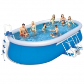 Bestway 18ft Steel Pro Oval Frame Pool Set
