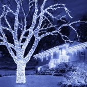 Snowtime 100 Straight Line Ice White Connectable LEDS
