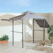 BBQ Gazebo With Eaves and Side Table