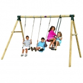 Plum Colobus Wooden Swing Set & Junior Sandpit Combo Package