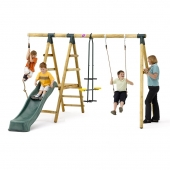 Plum MEERKAT Wooden Swing Set