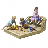Plum Premium Wooden Sandpit and Bench