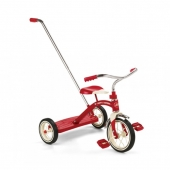 Radio Flyer Classic Red Tricycle (10in) with Handle